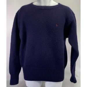 Men's Polo by Ralph Lauren navy blue sweater XL